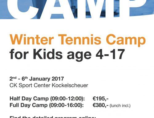 ESTESS Winter Tennis Camp for Kids 2-6 January!