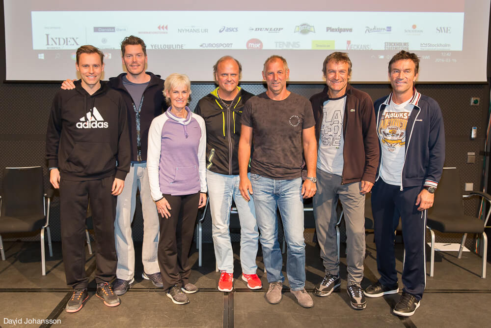 Kings of Tennis - Mats Merkel, Thomas Enqvist, Judy Murray, Håkan Dahlbo, Thomas Muster, Mats Wilander, Pat Cash