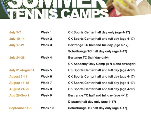 ESTESS Luxembourg Launches Summer Tennis Camp Tour 3 July!